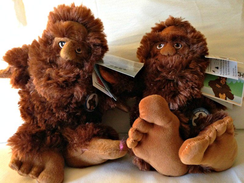 Stuffed Sasquatch toys at Harrison Hot Springs Resort and Spa