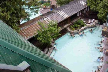 The adult only pool at Harrison Hot Springs Resort
