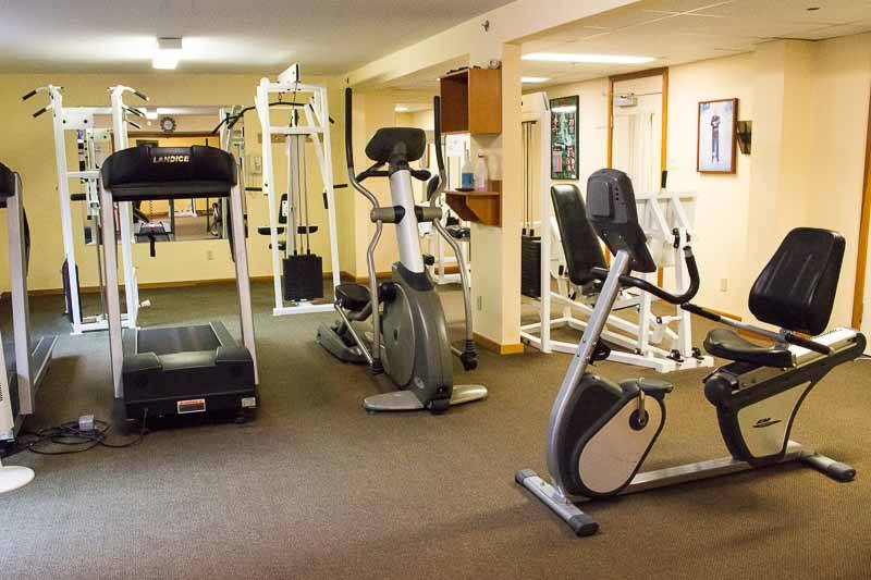 The gym at Harrison Hot Springs Resort