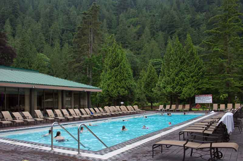The lap pool one of five pools at Harrison Hot Springs Resort and Spa