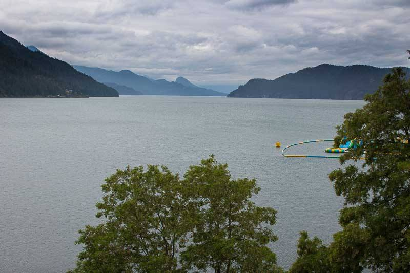 View from room at Harrison Hot Springs Resort and Spa