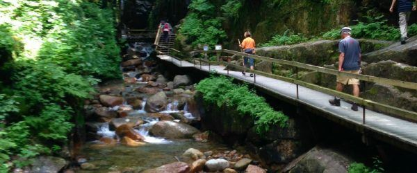 New Hampshire Flume Gorge in Franconia State Park