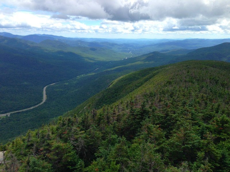 New Hampshire Looking down from Cannon Mountain Peak