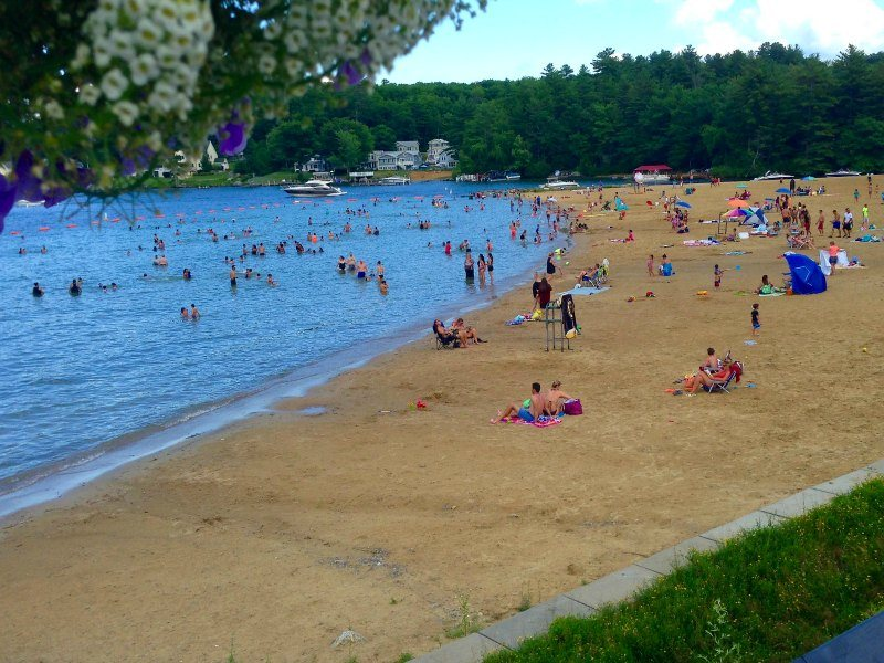 New Hampshire the Beach at Lake Winnepesaulkee at Laconia