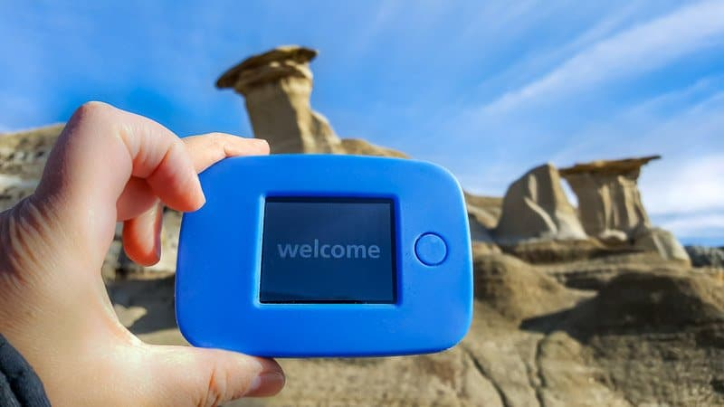 Using the 4G Tep at the Drumheller Hoodoos in Alberta, Canada