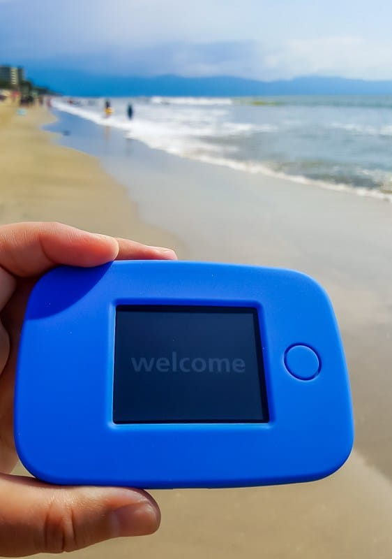 Tep 4G working like a charm on the beach in Mexico