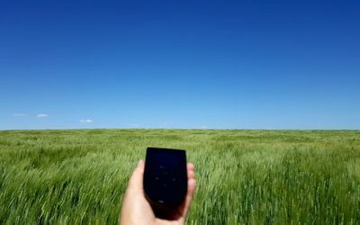 Tep Wireless in a wheatfield in Saskatchewan