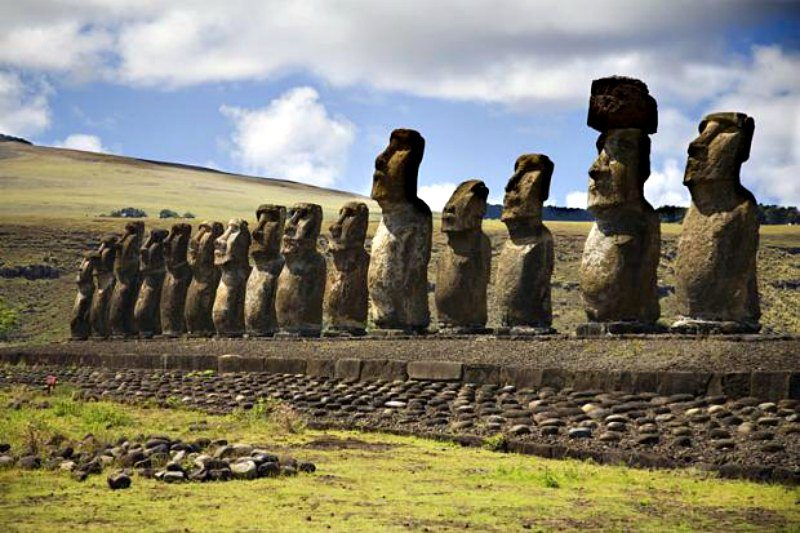 Statues at Easter Island Photo Exodus Travels