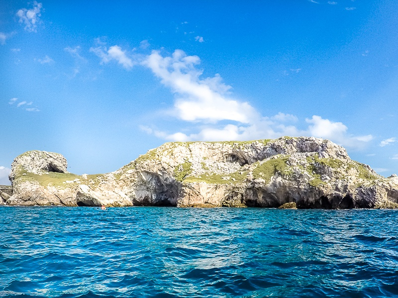 Marietas Islands blue water view from boat with Punta Mita Expeditions