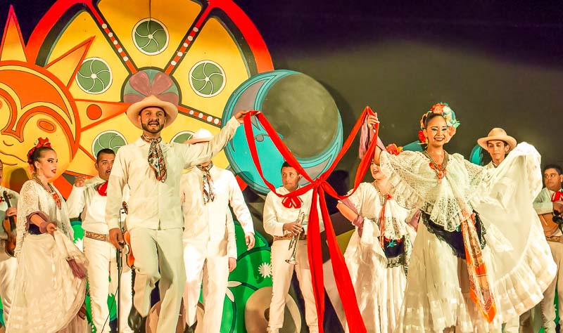 Mexican show entertainment at the sister resort Marival Resort and Suites