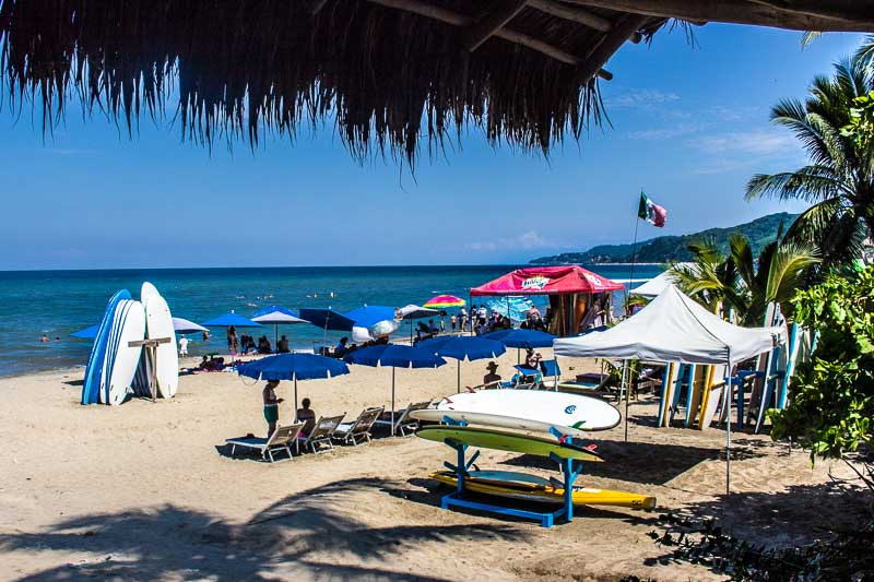 Mexico Riviera Nayarit Sayulita beach beside Don Pedros restaurant