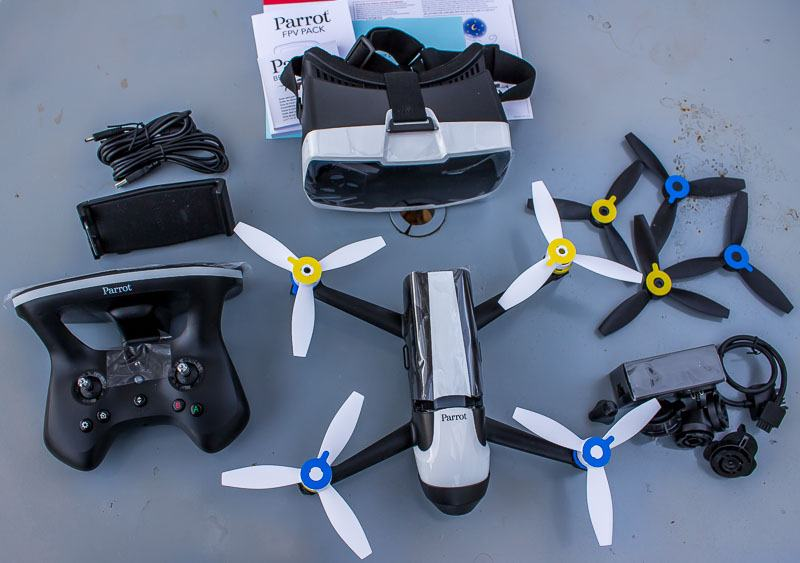 Parrot Bebop 2 Drone FPV Pack all Unboxed