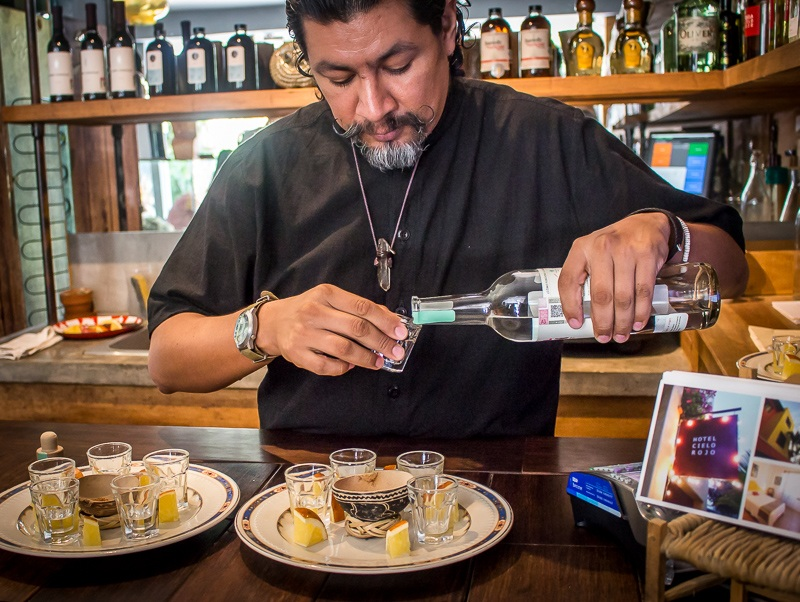 Sampling Tequila at the Sayulita Wine Shop Mexico what to do in the Riviera Nayarit