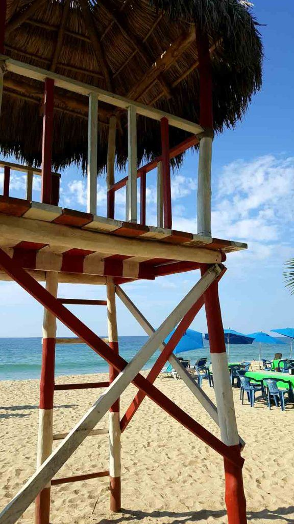San Pancho lifeguard tower what to do in the Riviera Nayarit Mexico