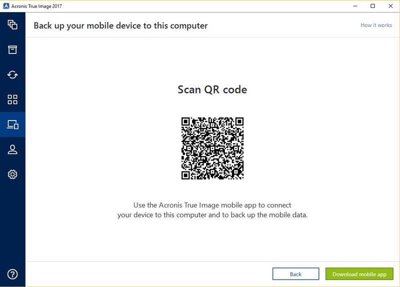 Acronis Mobile App QR Code