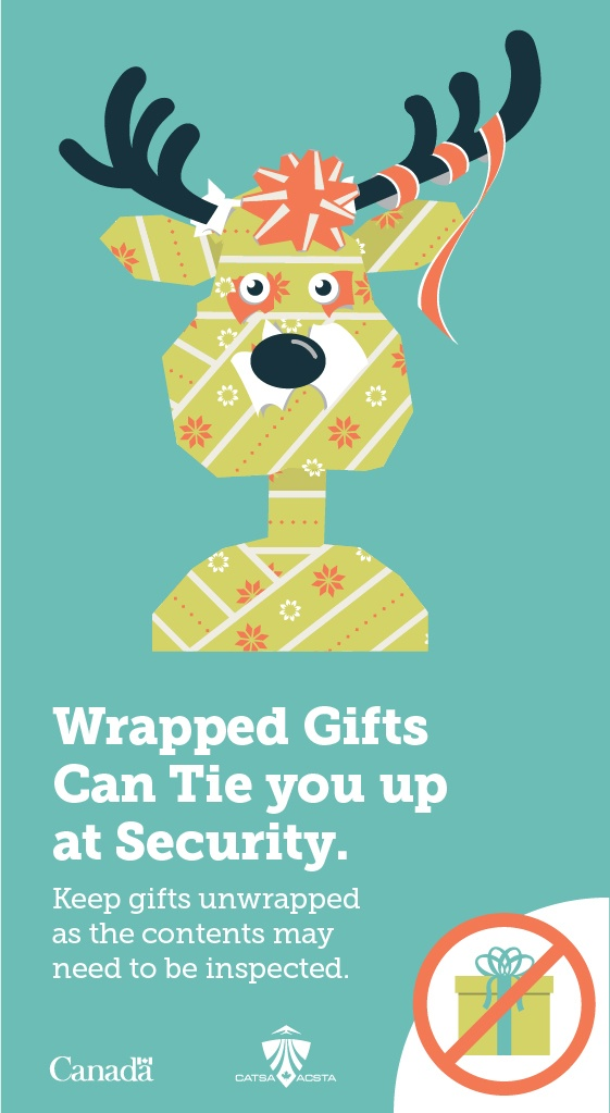 Dont wrap your gifts tip - 7 Expert Tips for Speeding Your Family Through Airport Security This Winter CATSA