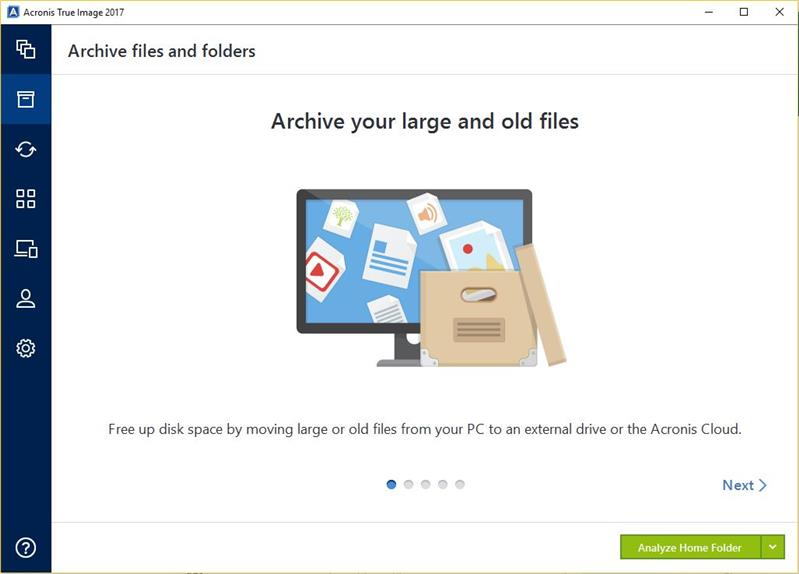 Starting Acronis True Image 2017 Review