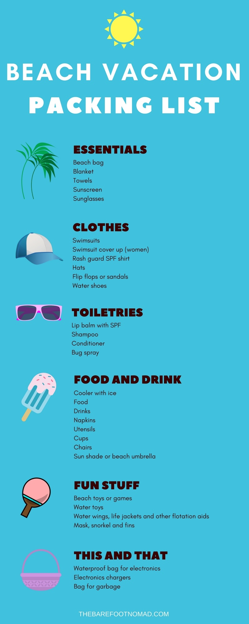 The Perfect Summer Beach Vacation Packing List