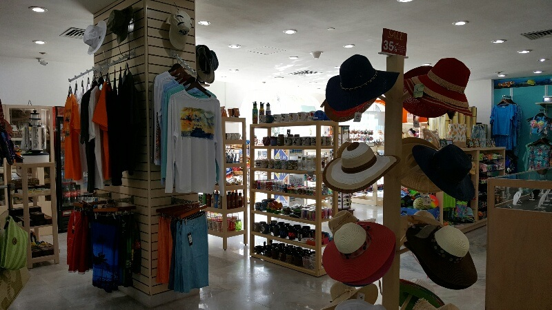 Gift shop at Cozumel Palace hotel
