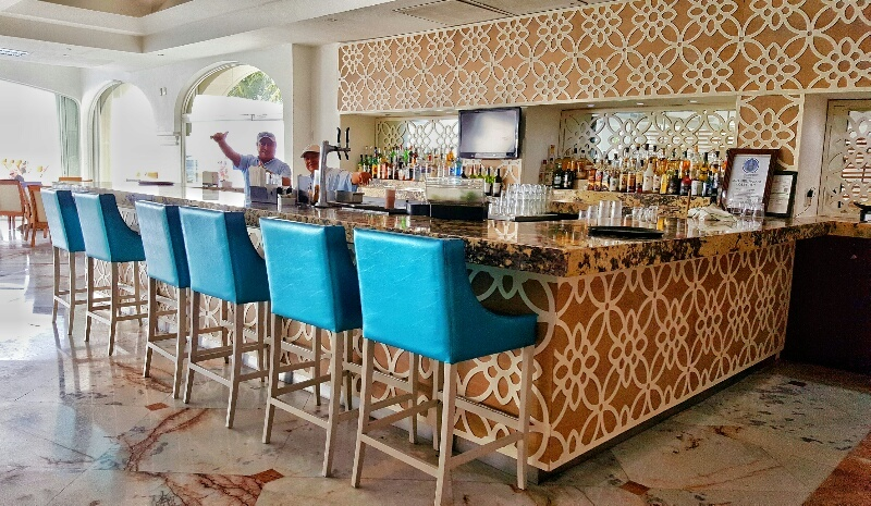Inside bar area at Cozumel Palace Resort