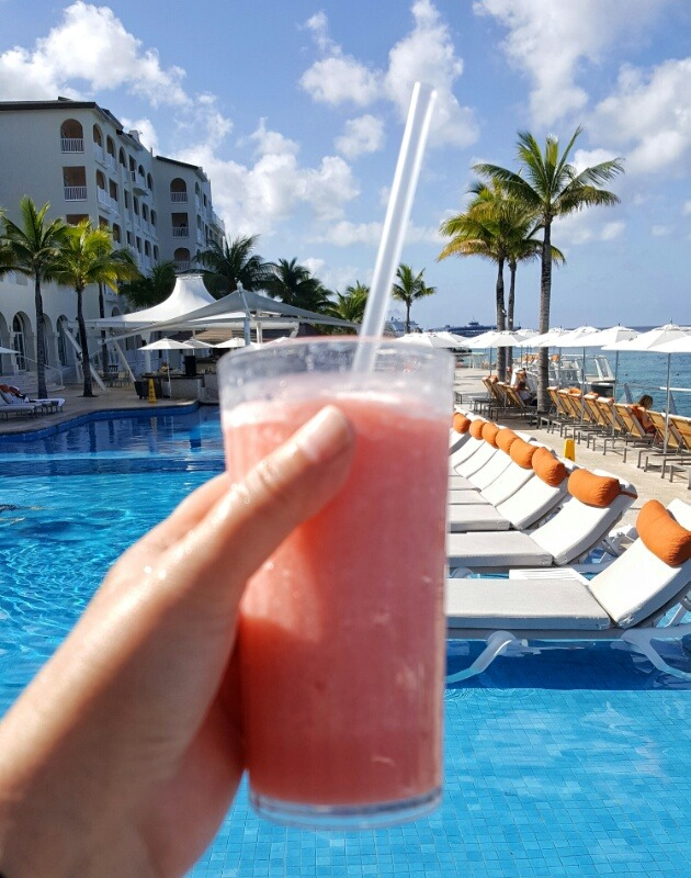 Poolside drinks Cozumel Palace Riviera Maya