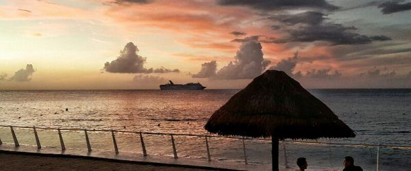 Sunset from our Family Suite Cozumel Palace Riviera Maya