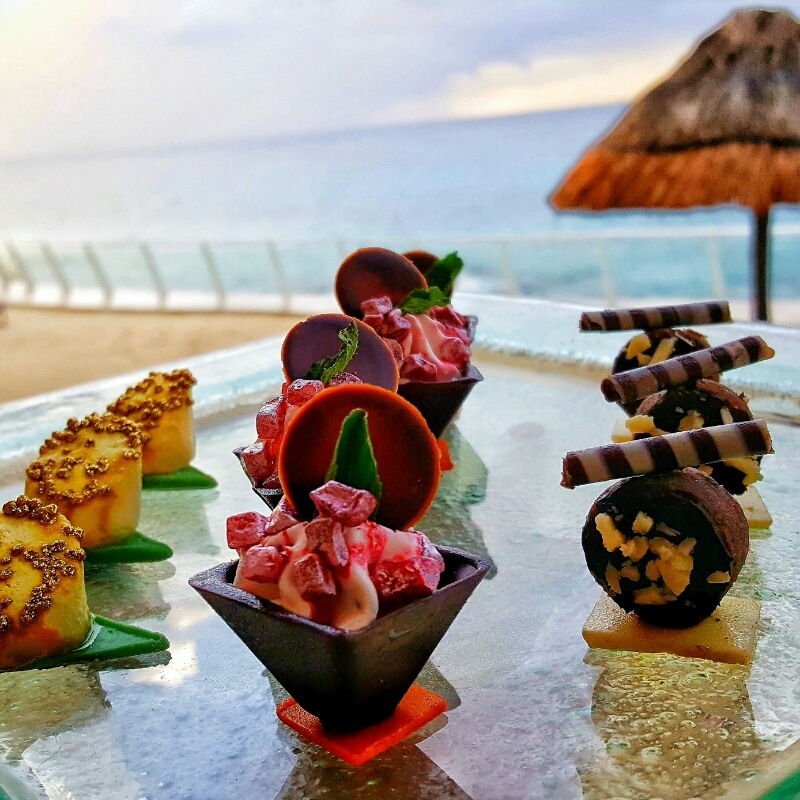 Tasty Chocolates in our room at Cozumel Palace Riviera Maya