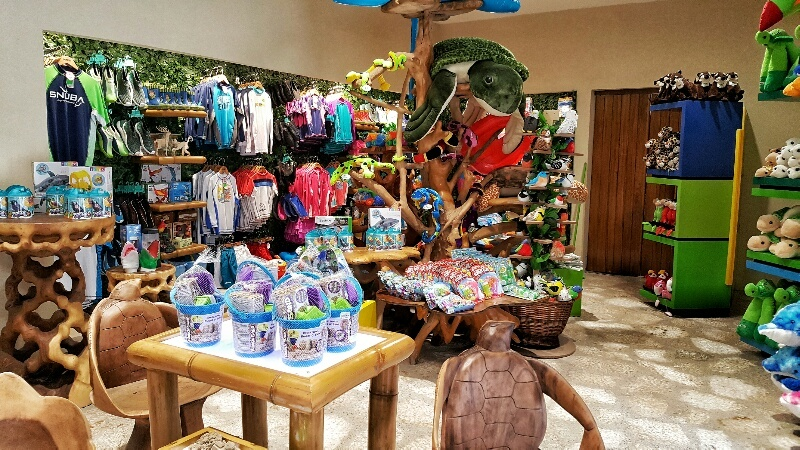 Gift shop in Childrens World at Xcaret
