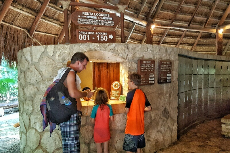 Locker rental at Xcaret