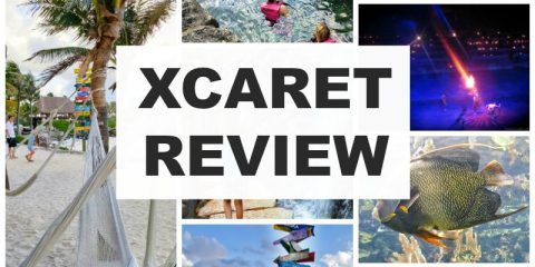 Our Review of Xcaret in Cancun Mexico. Includes how to get to Xcaret, the underground river, the Espectacular night show, plus restaurant and attractions.