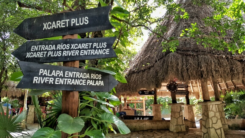 Xcaret Plus River entrances