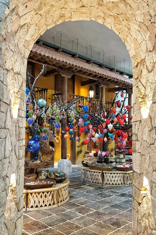 Xcaret gift shop at front entrance