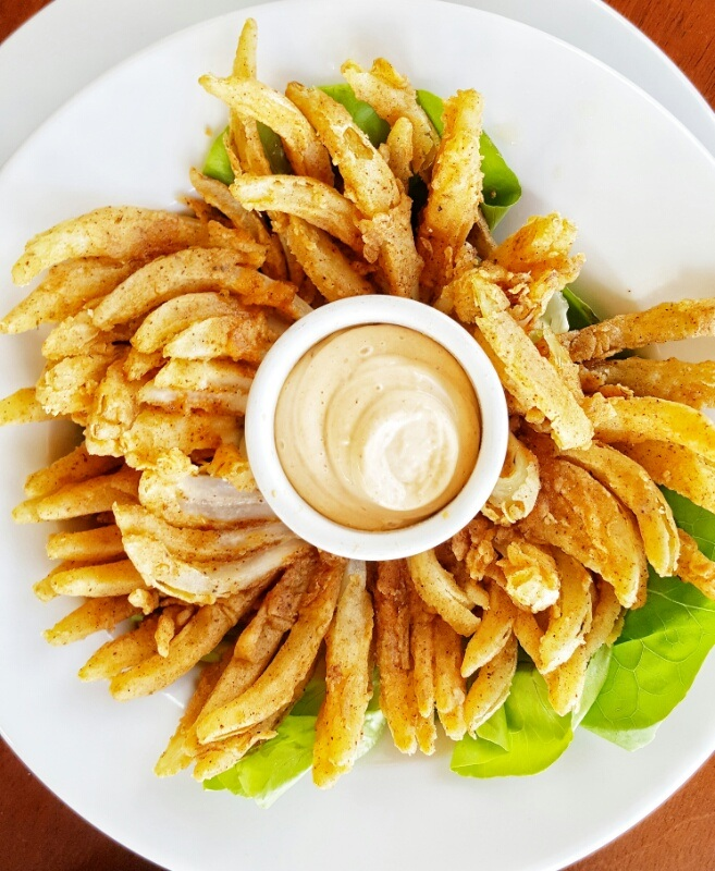 Blooming onion snacks Victoria House Belize
