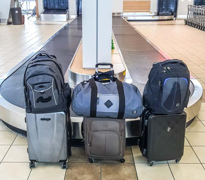 Carry on only luggage for a family of four