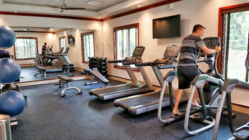 Exercise room Victoria House Belize