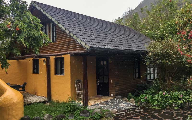 Family cabin outside at Hotel Termas de Papallacta Ecuador