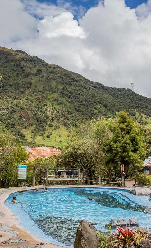 Public hot pools main pool at Termas de Papallacta