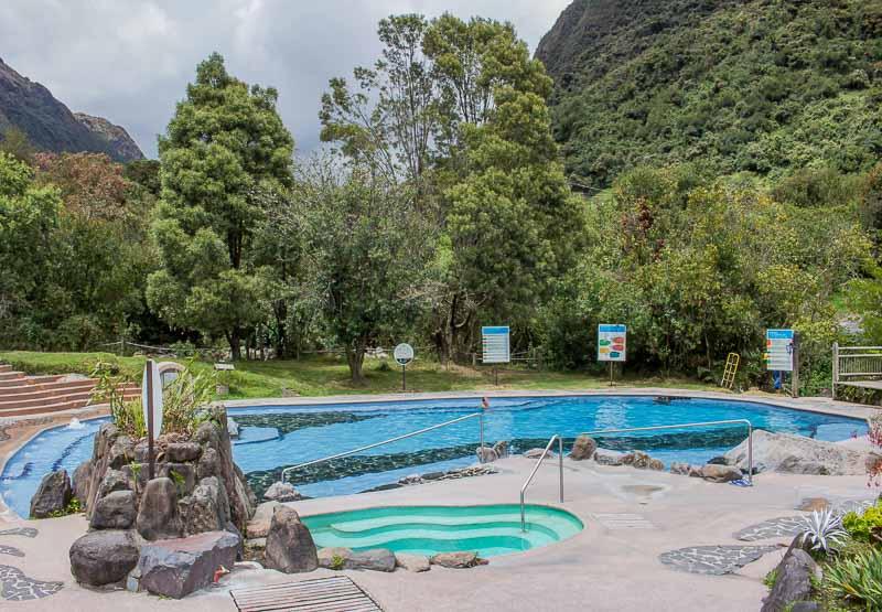 Public pool area at Termas de Papallacta