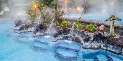 Spa hot pool with faucet Termas Papallacta