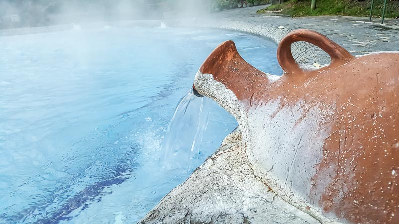 Spa hot pools terra cotta jug Termas Papallacta