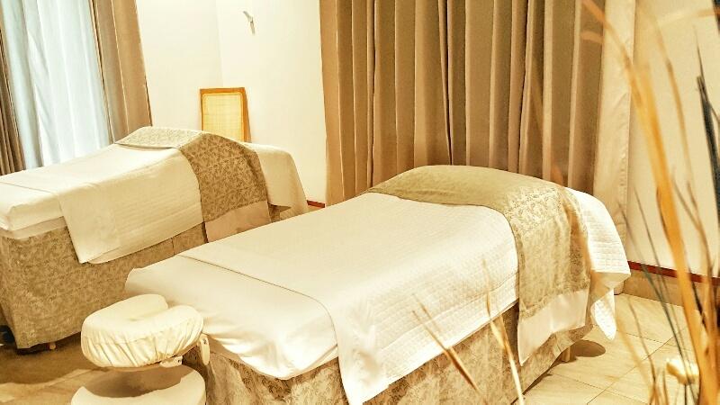 Spa massage beds Victoria House Belize
