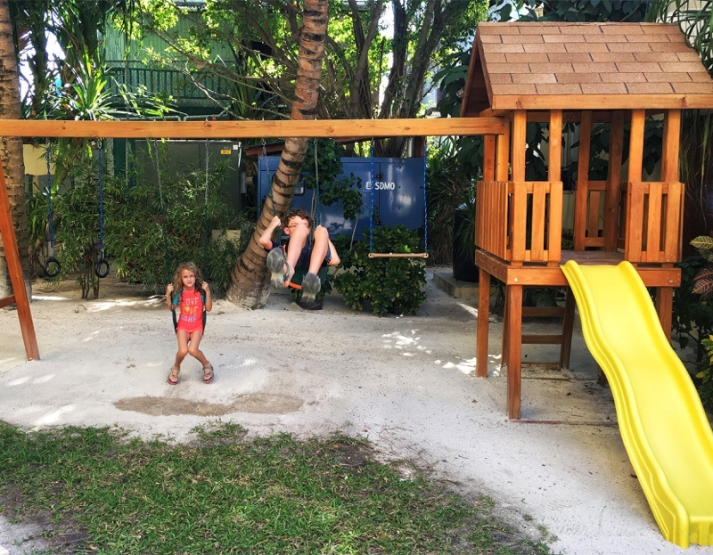 Swingset at The Phoenix Belize Resort