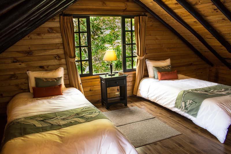Upstairs loft in family cabin Hotel Termas de Papallacta Ecuador