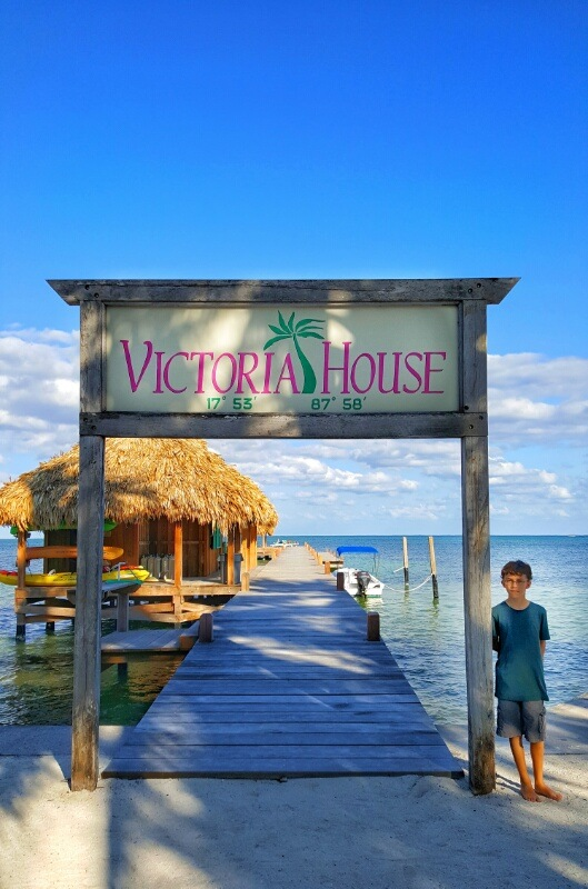 Victoria house dock Ambergris Caye
