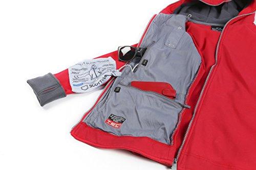 The cute womens travel jacket with hidden pockets scottevest chloe glow hoodie for Travel gear hidden pocket