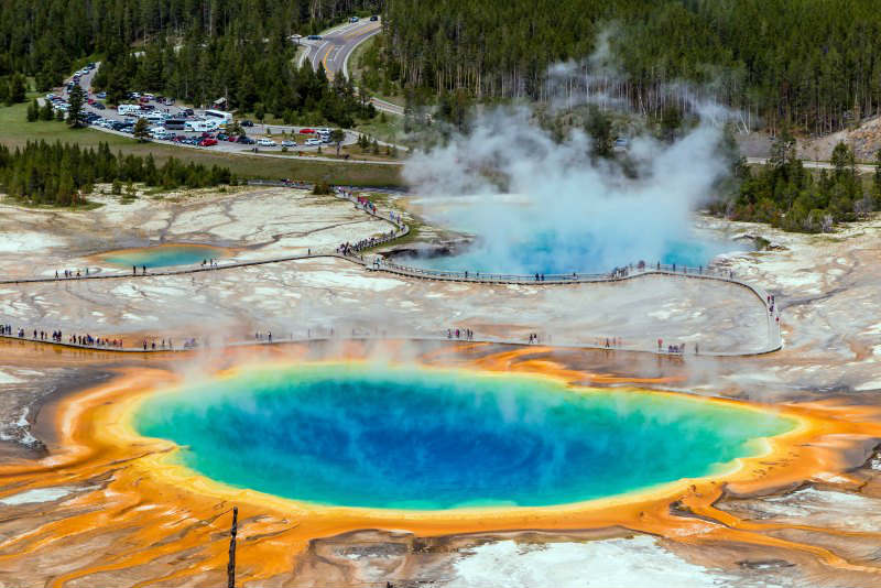 Grand Prismatic Spring Yellowstone National Park DP