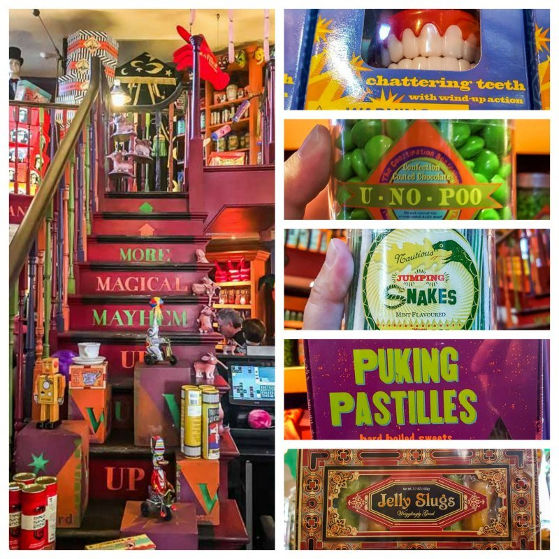 Inside Weasleys Wizard Wheezes novelty joke shop