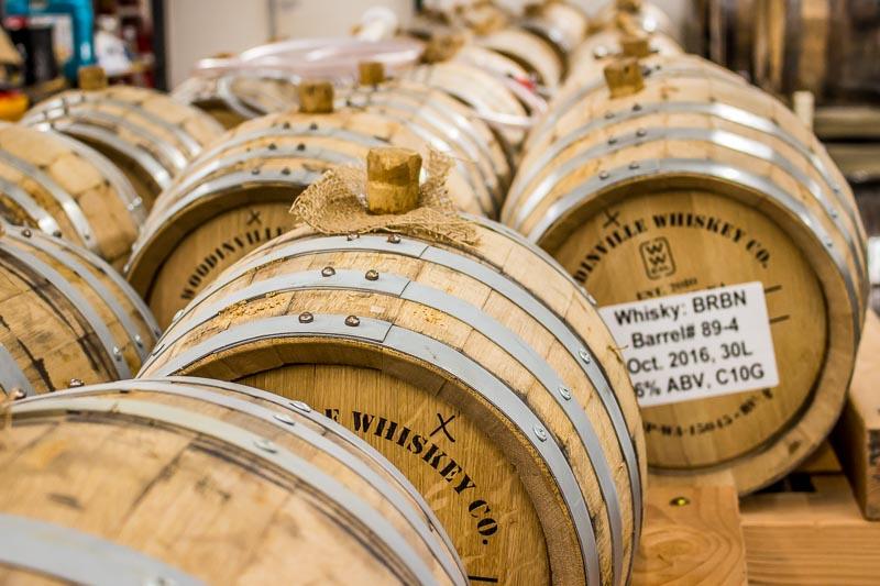 Okanagan Spirits Vernon BRBN bourbon whisky barrels