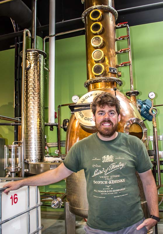 Okanagan Spirits Vernon Junior Distiller Christopher Burke