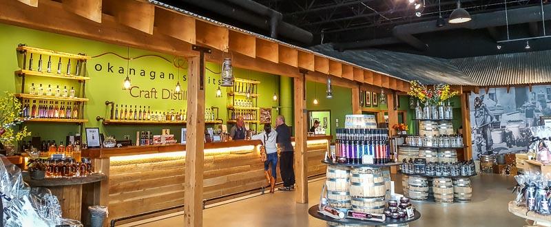 Okanagan Spirits Vernon tasting bar
